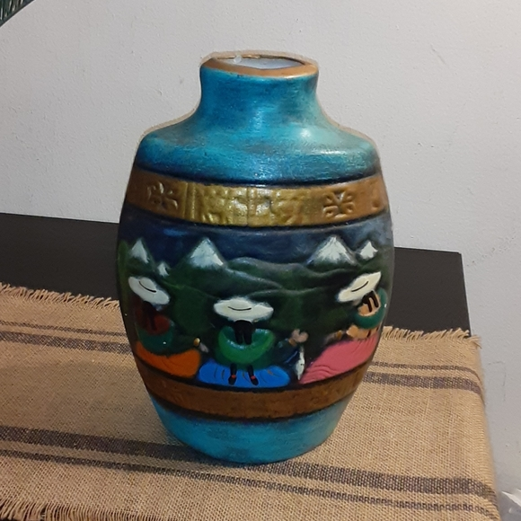 tall vase with Aztec style